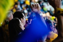 Spectators during handball match between RK Celje Pivovarna Lasko (SLO) and RK PPD Zagreb (CRO) in 7th Round of EHF Champions League 2019/20, on November 10, 2019 in Arena Zlatorog, Celje, Slovenia. Photo Grega Valancic / Sportida