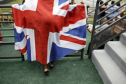 November 11, 2018 - Sao Paulo, Brazil - Motorsports: FIA Formula One World Championship 2018, Grand Prix of Brazil World Championship;2018;Grand Prix;Brazil ,  Fan wearing a British Flag  (Credit Image: © Hoch Zwei via ZUMA Wire)