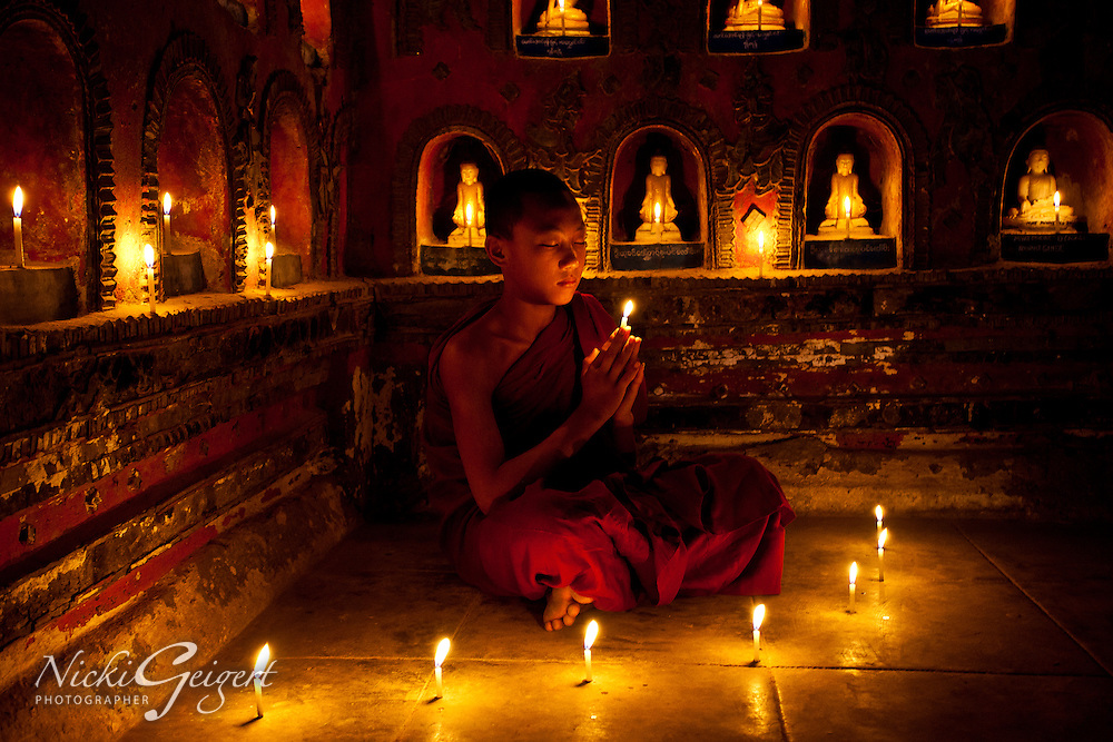 Prayer of a young Buddhist
