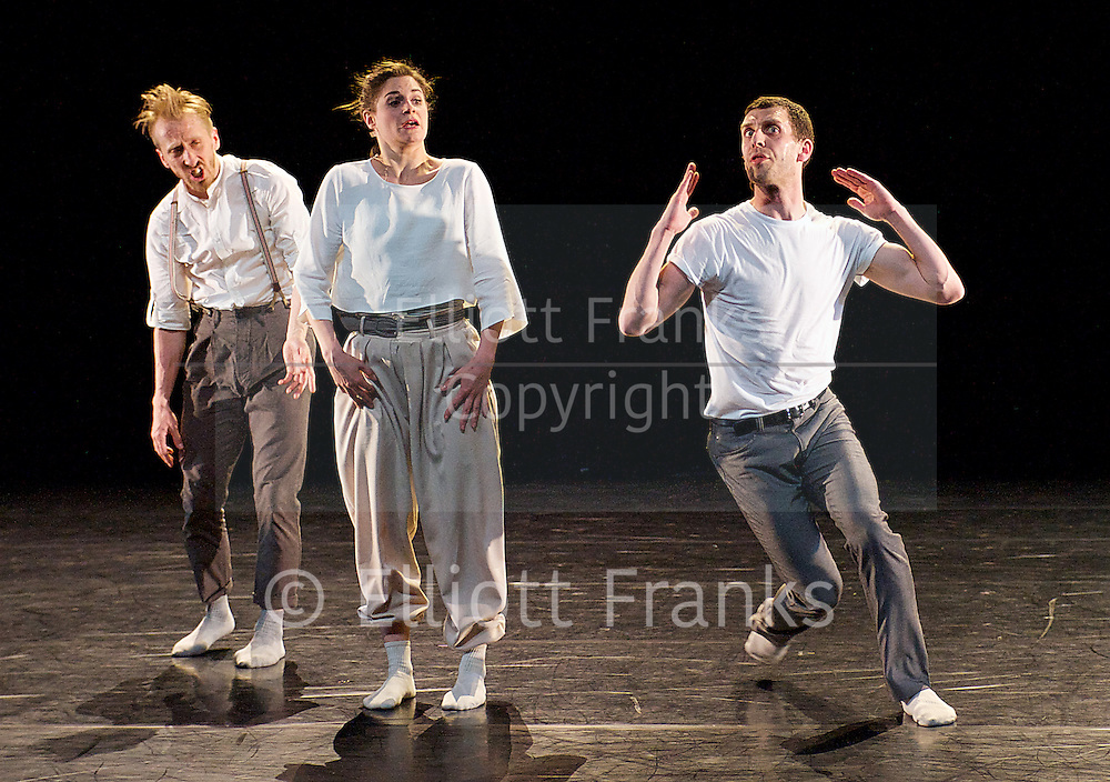 HeadSpace Dance If Play Is Play...<br /> world premier<br /> at The Linbury Studio, Royal Opera House, Covent Garden, London, Great Britain <br /> dress rehearsal <br /> 15th April 2014 <br /> <br /> Two by Johan Inger<br /> <br /> Christopher Akrill<br /> Gemma Nixon <br /> <br /> Before the Interval <br /> by Luca Silvestrini <br /> <br /> Christopher Akrill<br /> Clemmie Sveaas<br /> Jonathan Goddard<br /> <br /> The Days and The Nights The Wounds and the Night <br /> by Matthew Dunster and HeadSpace Dance <br /> <br /> Christopher Akrill<br /> Clemmie Sveaas<br /> Jonathan Goddard<br /> Gemma Nixon