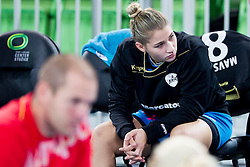 Aneja Beganovic of RK Krim Mercator during handball match between RK Krim Mercator (SLO) and HCM Baia Mare (ROM) in 1st Round of Women's EHF Champions League 2015/16, on October 16, 2015 in Arena Stozice, Ljubljana, Slovenia. Photo by Urban Urbanc / Sportida