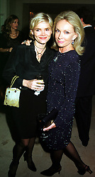 Left to right, CHRISTINA KNOVSEN and her mother MRS KIKI THOLSTRUP, at a party in London on 8th November 1999.MYS 78