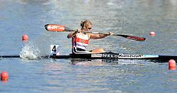 FRANZISKA WEBER (GERMANY) COMPETES IN WOMEN'S K1 1000 METERS FINAL A RACE DURING 2010 ICF KAYAK SPRINT WORLD CHAMPIONSHIPS ON MALTA LAKE IN POZNAN, POLAND...POLAND , POZNAN , AUGUST 21, 2010..( PHOTO BY ADAM NURKIEWICZ / MEDIASPORT ).