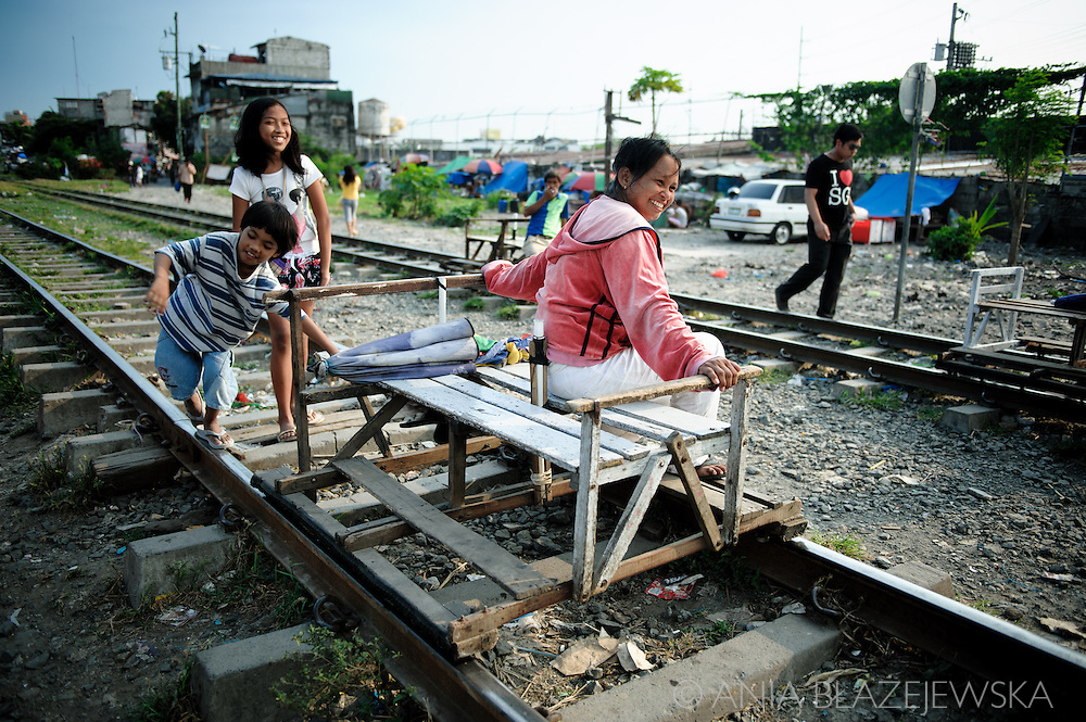 Philippines, Metro Manila. Trolley transportation in Bicutan.