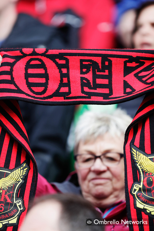 OSTERSUND, SWEDEN - MAY 17: A fan of Östersunds FK during the Allsvenskan match between Östersunds FK and IK Sirius FK at Jamtkraft Arena on May 17, 2017 in Ostersund, Sweden. Foto: Nils Petter Nilsson/Ombrello