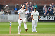 Ed Barnard of Worcestershire bowling during the Specsavers County Champ Div 1 match between Somerset County Cricket Club and Worcestershire County Cricket Club at the Cooper Associates County Ground, Taunton, United Kingdom on 22 April 2018. Picture by Graham Hunt.