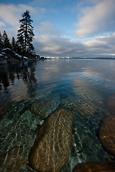 """Boulders at Lake Tahoe 29"" - These boulders under the water were photographed in the morning near Memorial Point, Lake Tahoe."