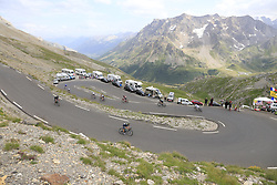 Riders descend the Col du Galibier during Stage 4 of the 104th edition of the Tour de France 2017, running 183km from La Mure to Serre Chevalier, France. 19th July 2017.<br /> Picture: Eoin Clarke | Cyclefile<br /> <br /> All photos usage must carry mandatory copyright credit (&copy; Cyclefile | Eoin Clarke)