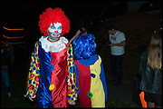 Charlie Brooker; Konnie Huq , Halloween in Golders Green, London, 31 October 2014