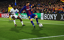 Lionel Messi of Barcelona and Antonio Rudiger of Chelsea in action - Mandatory by-line: Matt McNulty/JMP - 14/03/2018 - FOOTBALL - Camp Nou - Barcelona, Catalonia - Barcelona v Chelsea - UEFA Champions League - Round of 16 Second Leg
