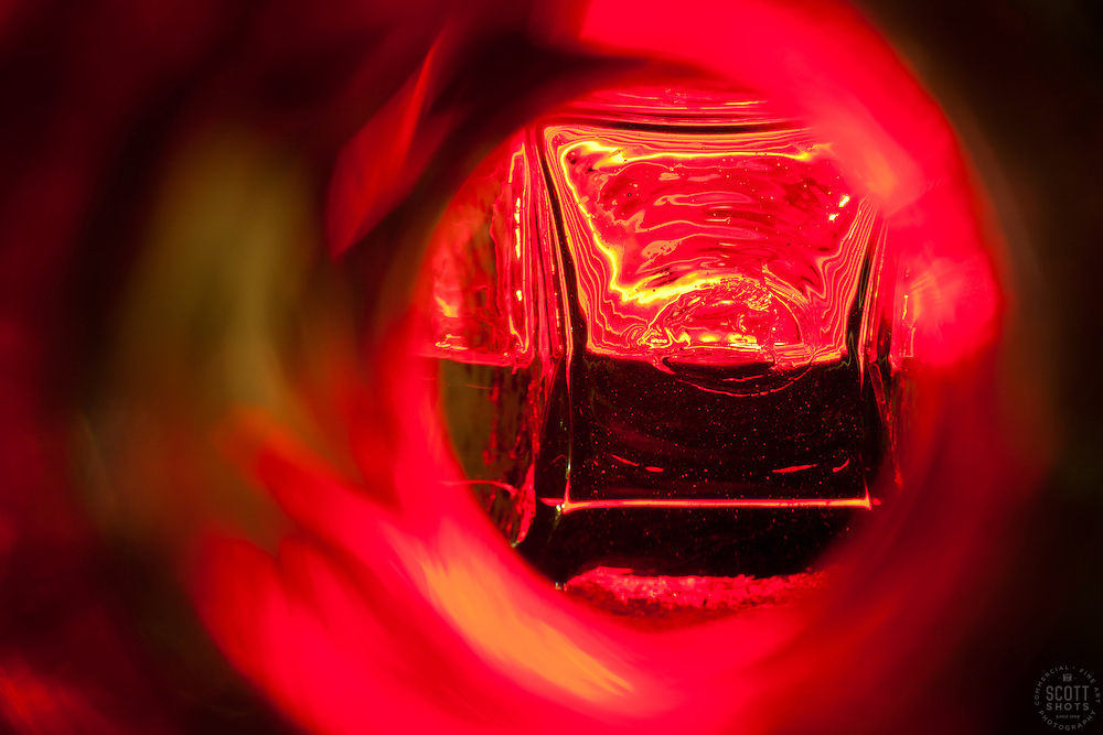 """""""Beauty at the Bottom: Tequila 12"""" - This is a photograph of a tequila bottle, shot right down inside the mouth of the bottle."""