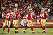 San Francisco 49ers quarterback Blaine Gabbert (2) reacts to a fumble against the Los Angeles Rams at Levi's Stadium in Santa Clara, Calif., on September 12, 2016. (Stan Olszewski/Special to S.F. Examiner)