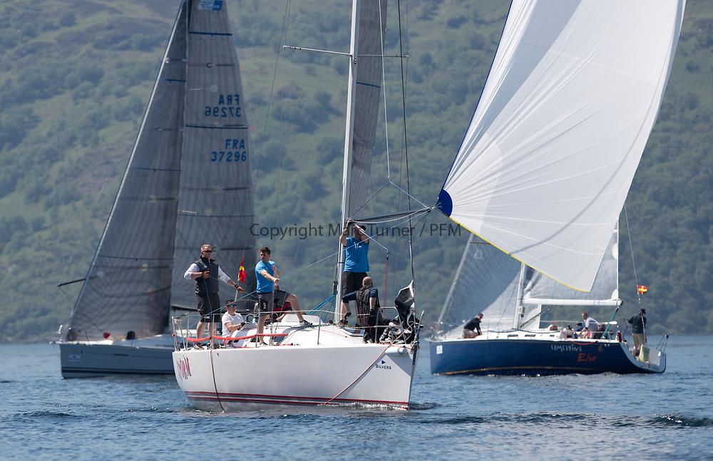 Silvers Marine Scottish Series 2017<br /> Tarbert Loch Fyne - Sailing<br /> <br /> Storm, IRL, J109