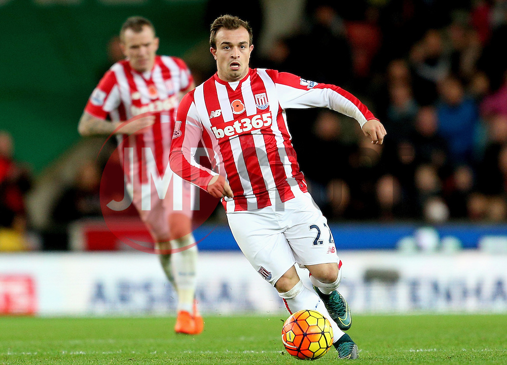 Xherdan Shaqiri of Stoke City  - Mandatory byline: Matt McNulty/JMP - 07966 386802 - 07/11/2015 - FOOTBALL - Britannia Stadium - Stoke-On-Trent, England - Stoke City v Chelsea - Barclays Premier League