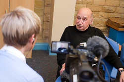 At St Dunstans Centre on Fullwood Road Sheffield  Billy Black, Calendar News talks to Rudy Wessley about his life St. Dunstan's and the guys taking part in the 327 mile Centre2Centre March.13th September2011 Image © Paul David Drabble