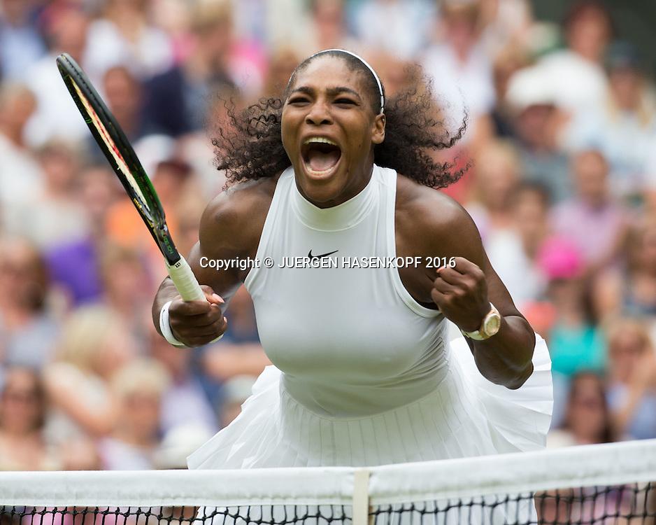 SERENA WILLIAMS (USA) macht die Faust und jubelt, Jubel,Emotion, Damen Endspiel, Finale  <br /> <br /> <br /> Tennis - Wimbledon 2016 - Grand Slam ITF / ATP / WTA -  AELTC - London -  - Great Britain  - 9 July 2016.