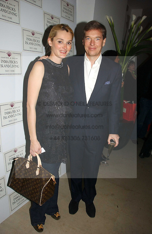 CHARLIE BUTTER and AGNIESZKA SZELUK at a party to celebrate the launch of India Hick's 'Island Living' range of frangrance and beauty products in association with Crabtree &amp; Evelyn held at The Hempel, Craven Hill Gardens, London on 22nd November 2006.<br />
