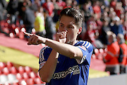 Brentford midfielder  Sergi Canós  during the Sky Bet Championship match between Nottingham Forest and Brentford at the City Ground, Nottingham, England on 2 April 2016. Photo by Chris Wynne.
