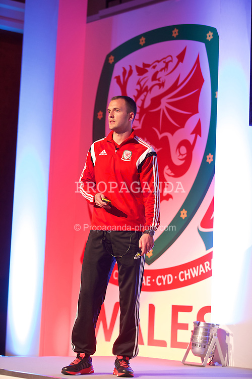 NEWPORT, WALES - Friday, May 29, 2015: Liverpool coach Chris Davies during the Football Association of Wales' National Coaches Conference 2015 at the Celtic Manor Resort. (Pic by David Rawcliffe/Propaganda)