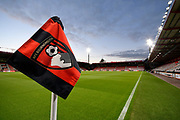 General view of the corner flag inside of the Vitality Stadium before the EFL Cup 4th round match between Bournemouth and Norwich City at the Vitality Stadium, Bournemouth, England on 30 October 2018.