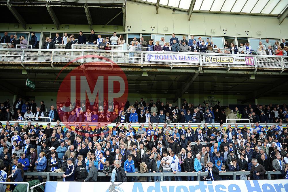 Bristol Rovers fans - Photo mandatory by-line: Neil Brookman/JMP - Mobile: 07966 386802 - 03/05/2015 - SPORT - Football - Bristol - Memorial Stadium - Bristol Rovers v Forest Green Rovers - Vanarama Football Conference
