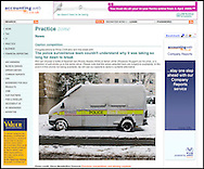 Police Van Covered in Snow / Accounting Web.co.uk / February 2009