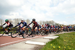 Tanja Erath (GER) on the front of the bunch at Healthy Ageing Tour 2019 - Stage 5, a 124.3 km road race in Midwolda, Netherlands on April 14, 2019. Photo by Sean Robinson/velofocus.com