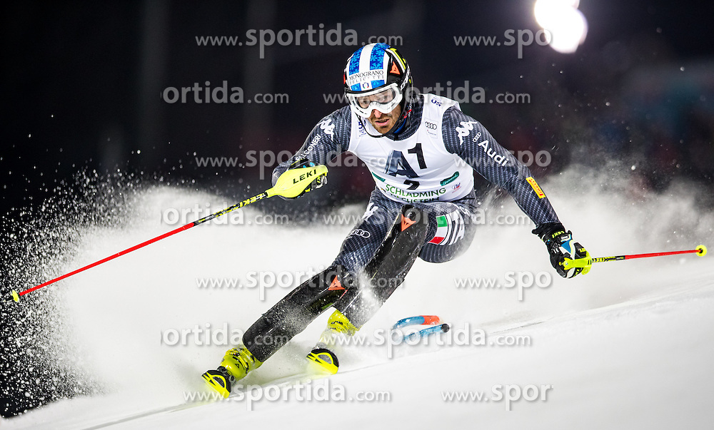 24.01.2017, Planai, Schladming, AUT, FIS Weltcup Ski Alpin, Schladming, Slalom, Herren, 1. Durchgang, im Bild Manfred Moelgg (ITA) // Manfred Moelgg of Italy during his 1st run of men's Slalom Race of Schladming FIS Ski Alpine World Cup at the Planai in Schladming, Austria on 2017/01/24. EXPA Pictures © 2017, PhotoCredit: EXPA/ Johann Groder
