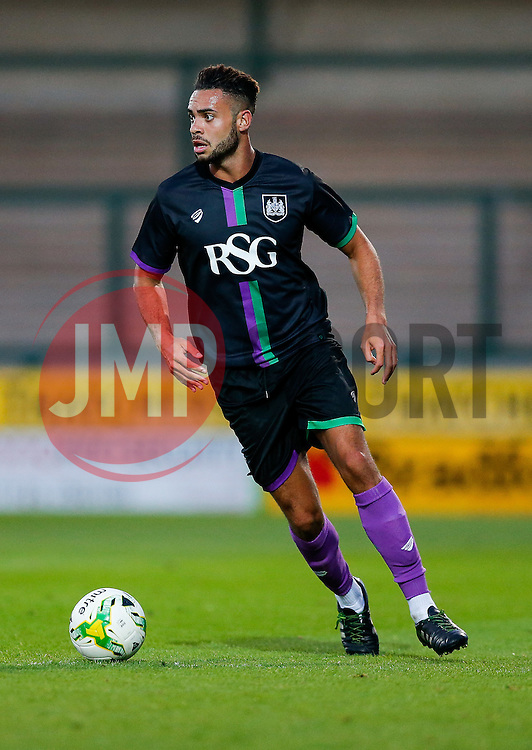 Derrick Williams of Bristol City in action - Mandatory byline: Rogan Thomson/JMP - 07966 386802 - 30/07/2015 - FOOTBALL - Huish Park Stadium - Yeovil, England - Yeovil Town v Bristol City - Pre Season Friendly.