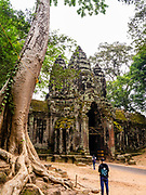 Image of the North Gate of Angkor Thom Temple, Angkor Wat Archeological Park, Siem Reap, Cambodia.