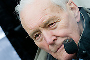 The face of protest - Protestors led by Tony Benn MP march to free Gaz and to shame the BBC, Broadcasting House, London 24 January 2009.   © Guy Bell Photography, GBPhotos