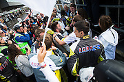 The Car 99, BMW M6 Team celebrates after winning the Blancpain Endurance Series at Spa 24 hour, Belguim on 31 July 2016. Photo by Jarrod Moore.