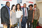 l to r: Malik Yoba, Natalie Wu, Vivica A. Fox, Munson Steed, Melody  Harris and Fonzworth Bently at The Men of Style Awards presented by Gillette Fusion and Rolling Out Urbanstyle Weekly held at the 40/40 Club on Novemeber 2, 2009 in New York City