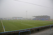 A foggy Holker Street pre-match during the The FA Cup 3rd round match between Barrow and Rochdale at Holker Street, Barrow, United Kingdom on 7 January 2017. Photo by Daniel Youngs.