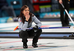 Great Britain's Eve Muirhead during the Women's Round Robin Session 1 match against Olympic Athletes from Russia at the Gangneung Curling Centre during day five of the PyeongChang 2018 Winter Olympic Games in South Korea.
