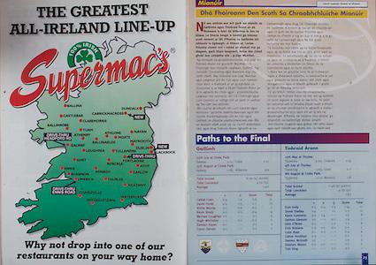 All Ireland Senior Hurling Championship - Final, .12.09.1999, 09.12.1999, 12th September 1999,.12091999AISHCF,.Senior Kilkenny v Cork,.Minor Galway v Tipperary, .Cork 0-13, Kilkenny 0-12,.Supermacs,