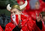 En dansk fan før EM Kvalifikationskampen mellem Danmark og Gibraltar den 15. november 2019 i Telia Parken (Foto: Claus Birch).