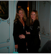 Debbie Holden and Amanda Holden. Tiffany & Co. Christmas party. the Savile Club. Brook St. London. 14 December 2004.  ONE TIME USE ONLY - DO NOT ARCHIVE  © Copyright Photograph by Dafydd Jones 66 Stockwell Park Rd. London SW9 0DA Tel 020 7733 0108 www.dafjones.com