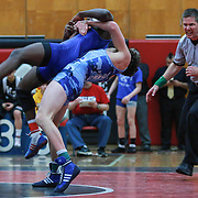 Middletown's Dante Immediato and Charter School of Wilmington Jesse Muaka grapple in a 126 pound bout during the Blue Hen Conference Wrestling Tournament Finals Saturday, Feb. 20, 2016 at William Penn High School in New Castle.<br /> <br /> Middletown's Dante Immediato defeated Charter School of Wilmington Jesse Muaka