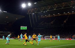General view of the action between Wolverhampton Wanderers and Newcastle United