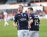 David Clarkson celebrates his goal - Dundee v Hamilton, SPFL Premiership at Dens Park<br /> <br />  - &copy; David Young - www.davidyoungphoto.co.uk - email: davidyoungphoto@gmail.com