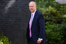 London, July 4th 2017. Transport Secretary Chris Grayling attends the weekly cabinet meeting at 10 Downing Street in London.