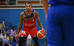 Gentry Thomas of Bristol Flyers with the ball - Photo mandatory by-line: Arron Gent/JMP - 28/09/2019 - BASKETBALL - Crystal Palace National Sports Centre - London, England - London City Royals v Bristol Flyers - British Basketball League Cup