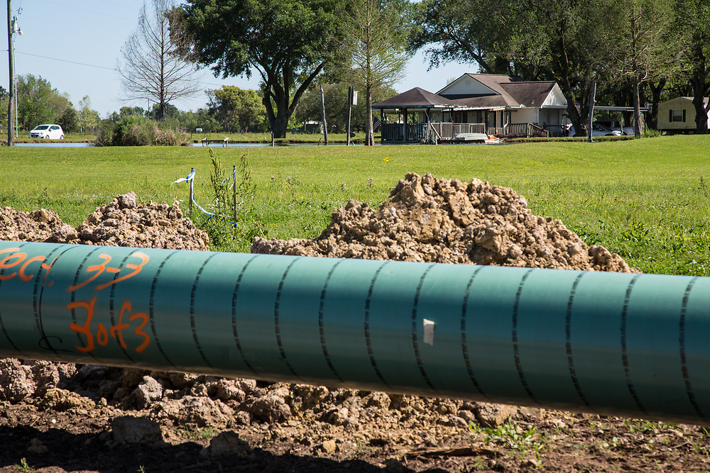 Bayou Bridge Pipeline being installed in Rayne Louisiana.