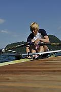 Caversham, Great Britain. GBR W1X Debbie FLOOD. GB Rowing media day, GB Rowing Training Centre, Caversham. Wednesday   26/05/2010 [Mandatory Credit. Peter Spurrier/Intersport Images]