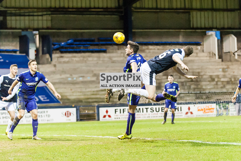 Raith Rovers Jon Daly goes in search of a final goal. Action from the Raith Rovers v Hibernian game in the 3rd Round of the Scottish Cup at  in Kirkcaldy, 9 January 2016. (c) Paul J Roberts / Sportpix.org.uk