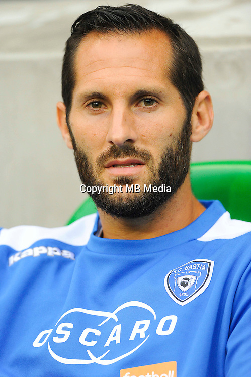 Florian MARANGE of Bastia during the Ligue 1 match between AS Saint Etienne and Bastia at Stade Geoffroy-Guichard on September 18, 2016 in Saint-Etienne, France. (Photo by Jean Paul Thomas/Icon Sport)