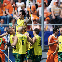 DEN HAAG - Rabobank Hockey World Cup<br /> 38 Final: Australia - Netherlands<br /> Foto: Kieran Govers scored the 2-1.<br /> COPYRIGHT FRANK UIJLENBROEK FFU PRESS AGENCY