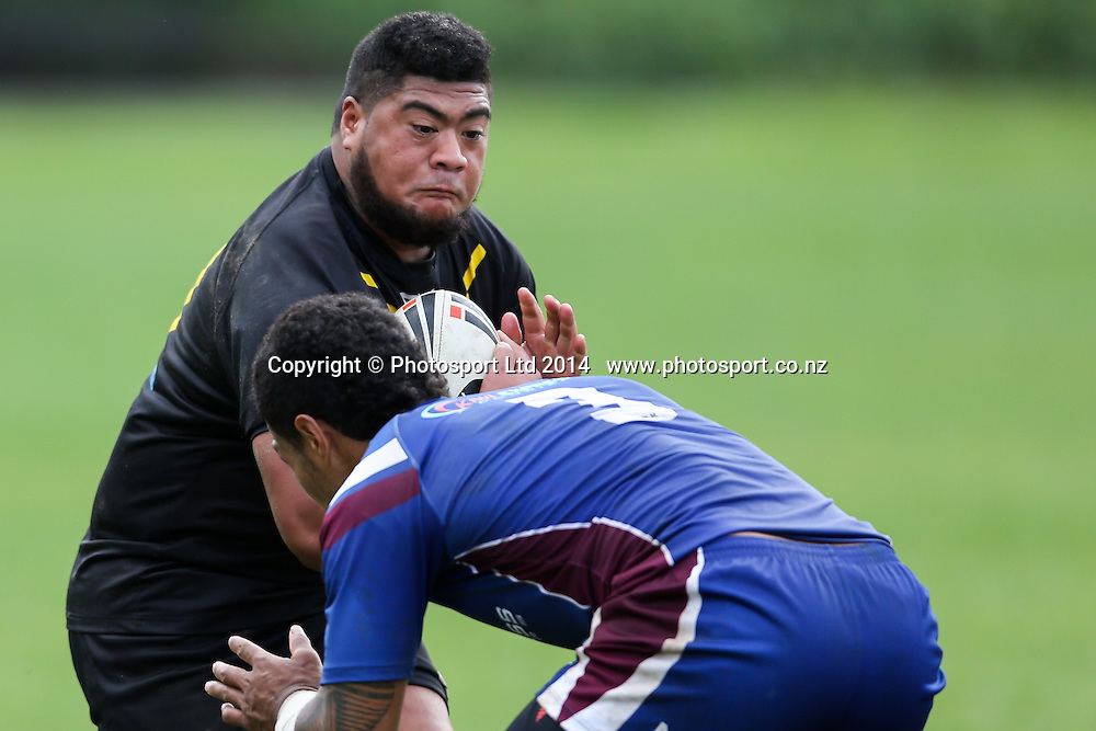 Wellington's Paul Lemana  during  NZRL Pirtek National Premiership Rugby League match, Akarana Falcons v Wellington Orcas at Ellerslie Domain, Ellerslie, Auckland, New Zealand. Saturday  13 September 2014.
