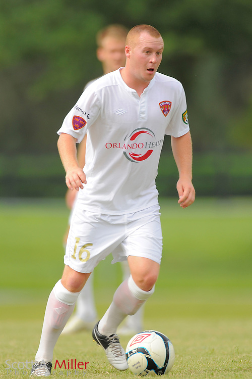 Orlando City midfielder Sam Fairhurst (16) City's win 4-1 over the Austin Aztex in the PDL Southern Conference Championships final at Trinity Catholic High Schooll on July 22, 2012 in Ocala, Florida. ..©2012 Scott A. Miller